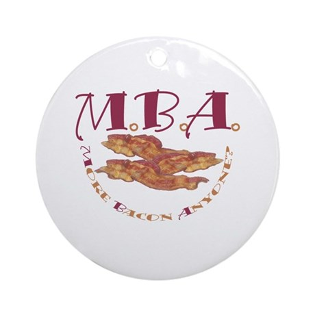 MBA Bacon Ornament (Round)