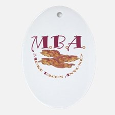 MBA Bacon Oval Ornament