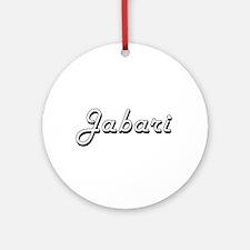 Jabari Classic Style Name Ornament (Round)