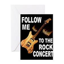ROCK CONCERT Greeting Cards
