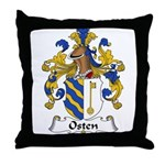 Osten Family Crest Throw Pillow