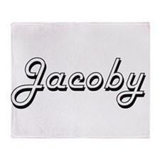 Jacoby Classic Style Name Throw Blanket
