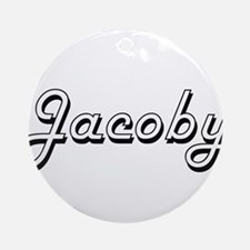 Jacoby Classic Style Name Ornament (Round)