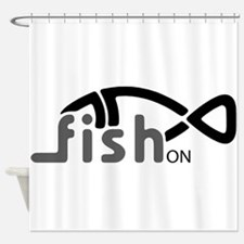 Fish On. Shower Curtain