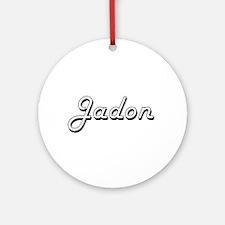 Jadon Classic Style Name Ornament (Round)