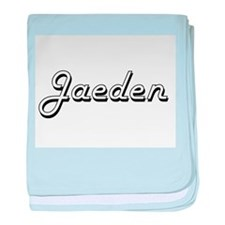 Jaeden Classic Style Name baby blanket