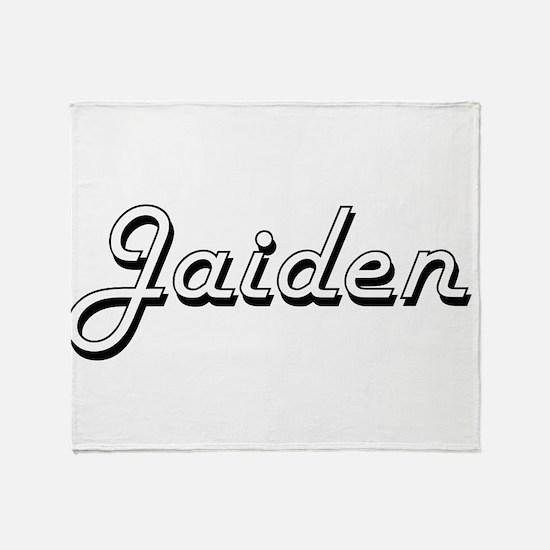 Jaiden Classic Style Name Throw Blanket