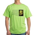 Thomas Jefferson 14 Green T-Shirt