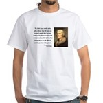 Thomas Jefferson 14 White T-Shirt