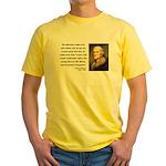 Thomas Jefferson 14 Yellow T-Shirt