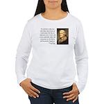 Thomas Jefferson 14 Women's Long Sleeve T-Shirt