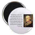 "Thomas Jefferson 14 2.25"" Magnet (100 pack)"