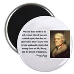 "Thomas Jefferson 14 2.25"" Magnet (10 pack)"
