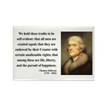 Thomas Jefferson 14 Rectangle Magnet (100 pack)
