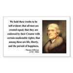 Thomas Jefferson 14 Rectangle Sticker
