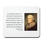 Thomas Jefferson 14 Mousepad