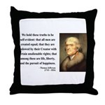 Thomas Jefferson 14 Throw Pillow