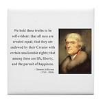 Thomas Jefferson 14 Tile Coaster