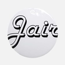 Jair Classic Style Name Ornament (Round)