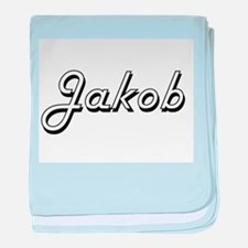 Jakob Classic Style Name baby blanket