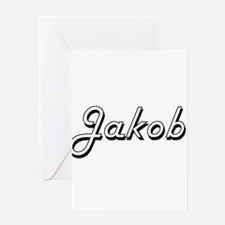 Jakob Classic Style Name Greeting Cards