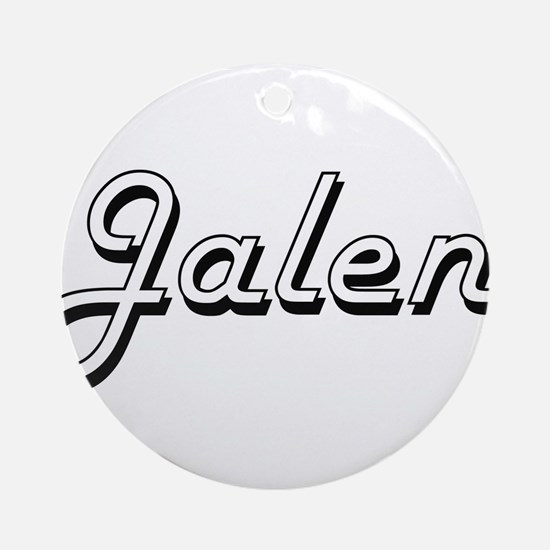 Jalen Classic Style Name Ornament (Round)