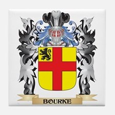 Bourke Coat of Arms - Family Crest Tile Coaster