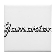 Jamarion Classic Style Name Tile Coaster
