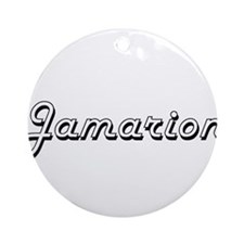 Jamarion Classic Style Name Ornament (Round)