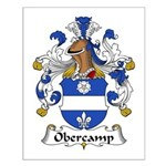 Obercamp Family Crest   Small Poster