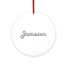 Jameson Classic Style Name Ornament (Round)