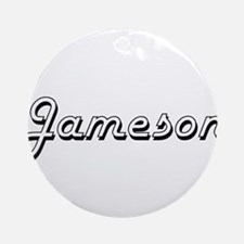 Jameson Classic Style Name Ornament (Round)