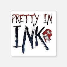 """Pretty In Ink Sugar Design Square Sticker 3"""" x 3"""""""
