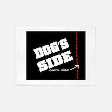 (Pet) Dog's Side 5'x7'Area Rug