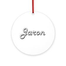 Jaron Classic Style Name Ornament (Round)