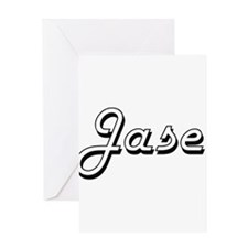 Jase Classic Style Name Greeting Cards