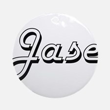 Jase Classic Style Name Ornament (Round)