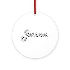 Jason Classic Style Name Ornament (Round)