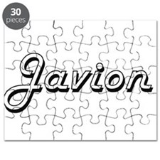 Javion Classic Style Name Puzzle