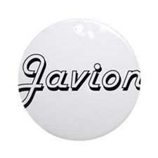 Javion Classic Style Name Ornament (Round)