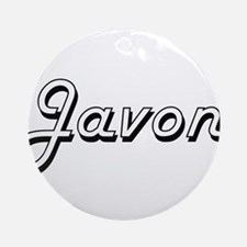 Javon Classic Style Name Ornament (Round)