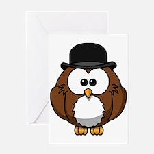 Gentleman Owl Greeting Cards