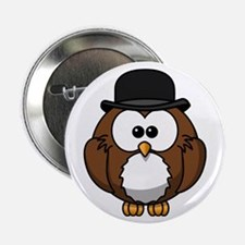 "Gentleman Owl 2.25"" Button (10 pack)"
