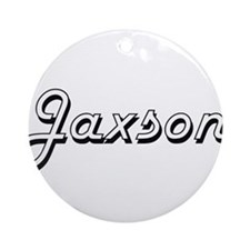 Jaxson Classic Style Name Ornament (Round)