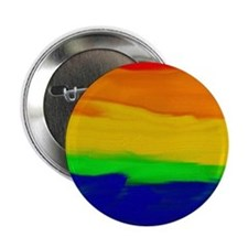 """GAY PRIDE RAINBOW ART SIGNED 2.25"""" Button"""