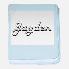 Jayden Classic Style Name baby blanket