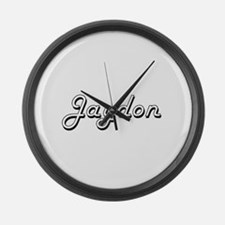 Jaydon Classic Style Name Large Wall Clock