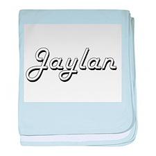 Jaylan Classic Style Name baby blanket