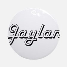 Jaylan Classic Style Name Ornament (Round)