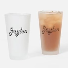 Jaylen Classic Style Name Drinking Glass